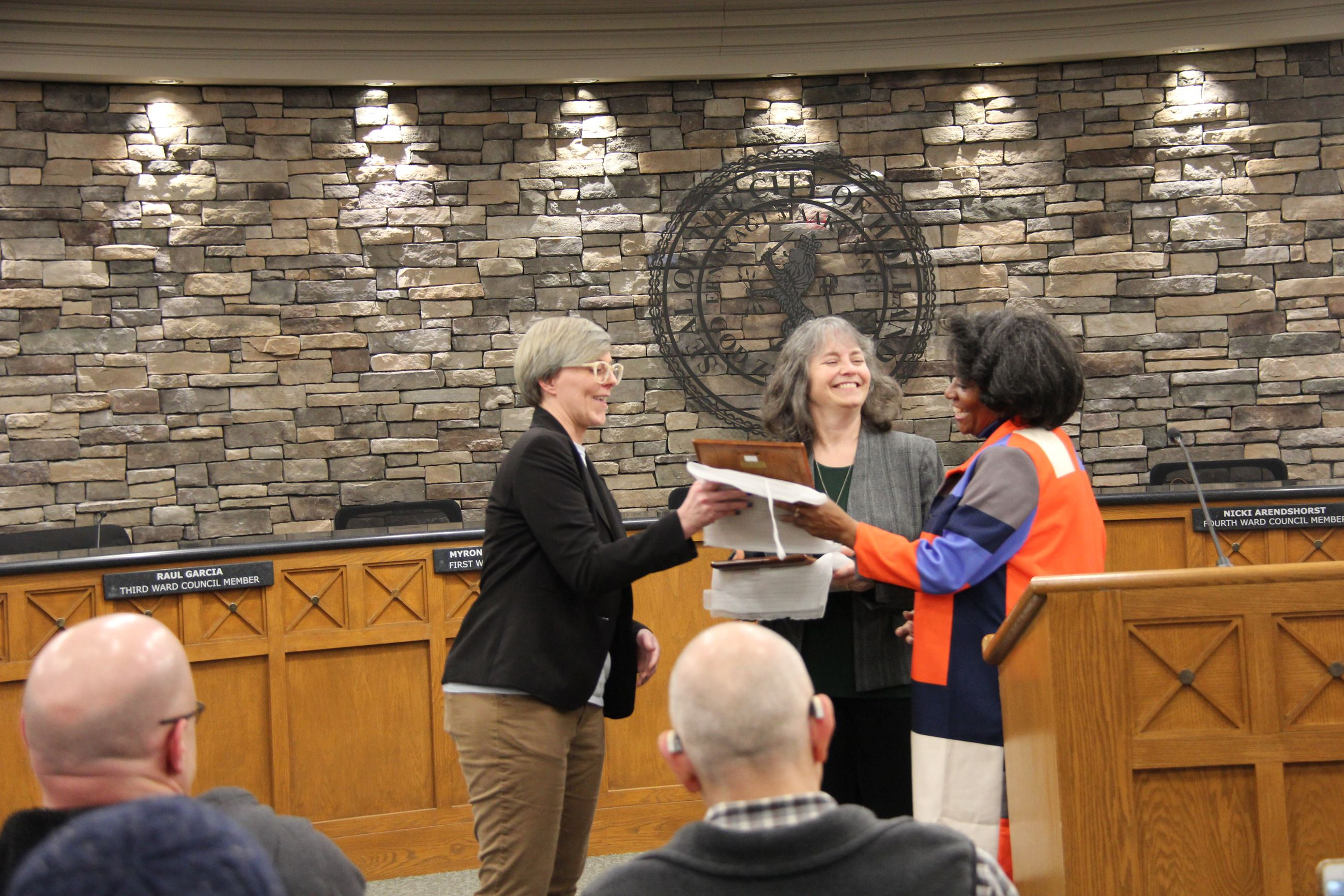 Social Justice Award for Housing presented to Angela Maxwell and First United Methodist Church