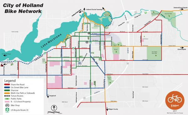City of Holland Bike Network