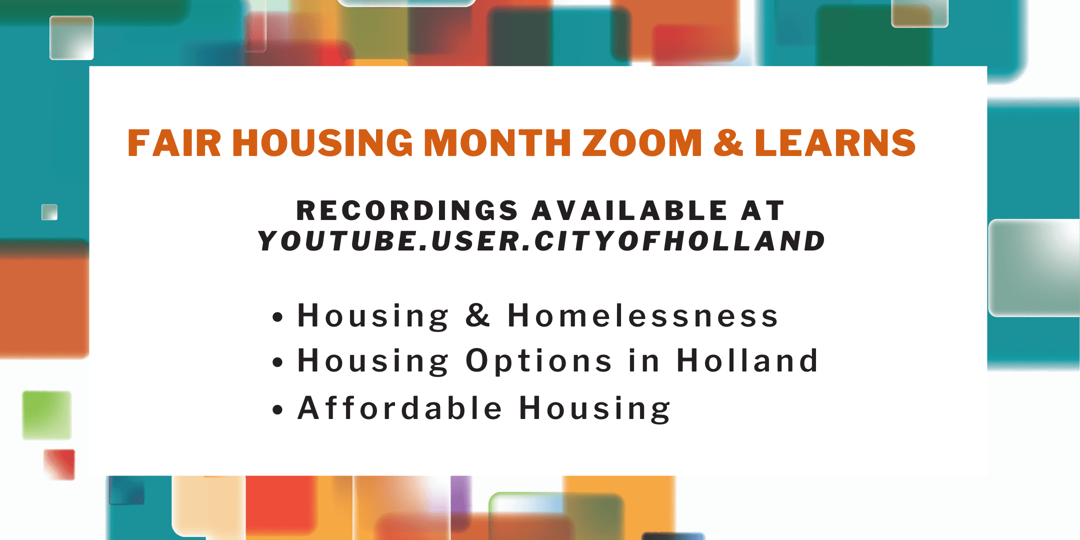 Fair Housing Zoom Learns recordings horz