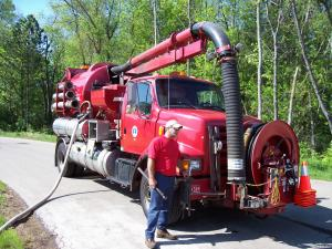 Vactor Truck Used to Clean and Clear Storm Water Lines and Structures