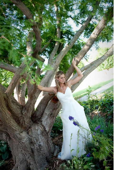 Bride Posing in Front of a Tree