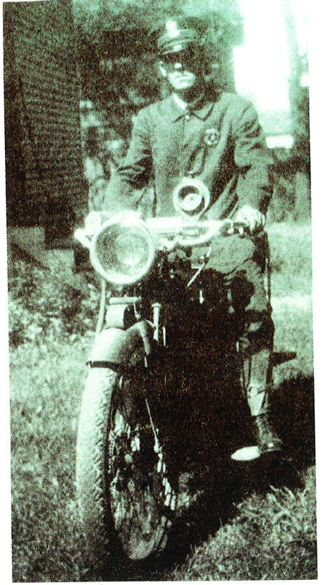 Officer on motorcyle from 1917