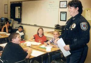 Officer in a Classroom
